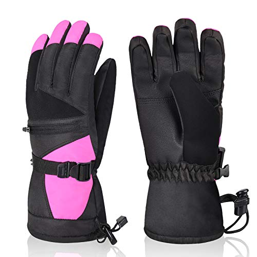 Ski Gloves, Winter Warm 3M Insulation Outdoor Windproof Snow Gloves for Women, Youth, Kid, Skiing, Snowboarding, Motorcycling, Cycling, Great Gift Idea