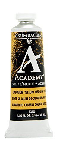 Grumbacher Academy Oil Paint, 37 ml/1.25 oz, Cadmium Yellow Medium (Academy Oil Color Paint)