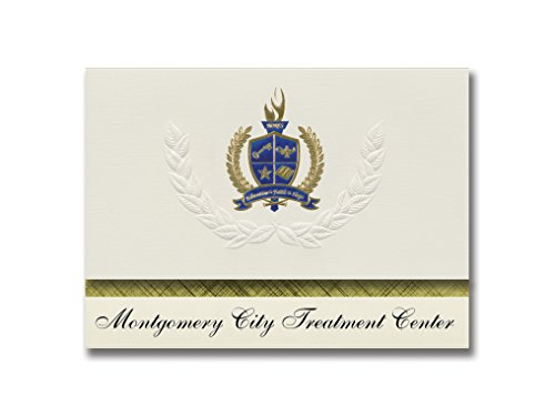Signature Announcements Montgomery City Treatment Center (Montgomery City, MO) Graduation Announcements, Presidential Elite Pack 25 with Gold & Blue Metallic Foil seal]()