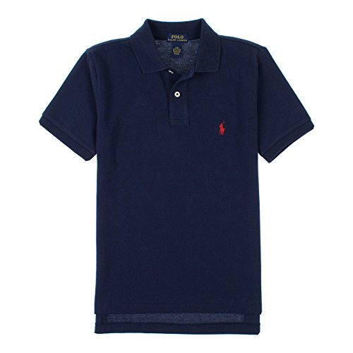 Ralph Lauren Big Boys Classic Short Sleeve Polo Shirt 14/16 French Navy - Ralph Lauren Polo Shirts Kids