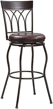 Home Meridian Metal 2-In-1 Leg Adjustable Barstool