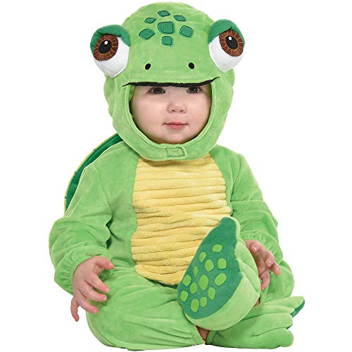Baby Turtle Halloween Costume (Party City Turtle Crawler Halloween Costume for Babies, 12-24 Months, Includes)