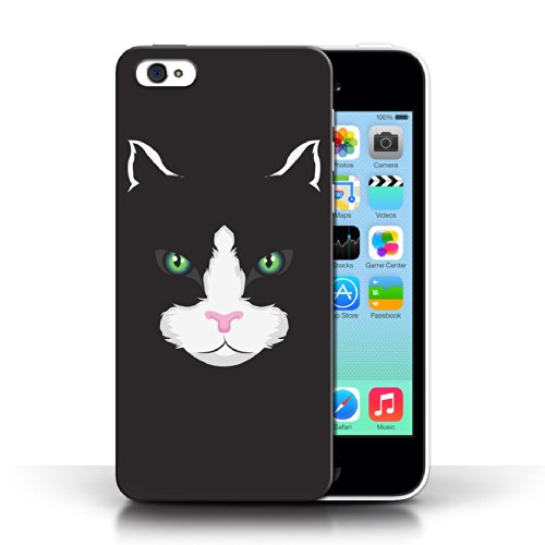 Etui / Coque pour Apple iPhone 5C / Chat noir conception / Collection de Museaux