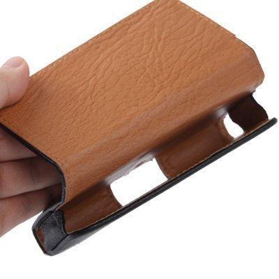 Hivel Funda de Cuero Piel con Trabilla para Cinturon Para Wiko Lenny Flip Billetera Carcasa Case Cover Negro