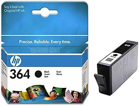 Cartucho de tinta original HP 364 para HP Photosmart 6520, color negro: Amazon.es: Electrónica