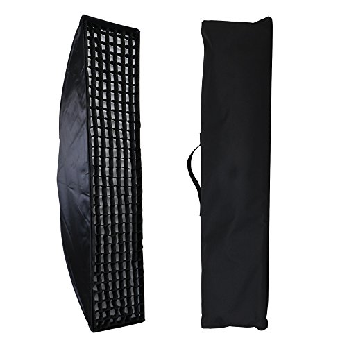 Fomito 35 X 160cm / 13.78'' X 63'' Studio Lighting Photo Softbox Bowens Mount with Honeycomb Grid For Light Flash,for Godox,for Jinbei,for Neewer Strobe/Flash Light and Other Studio Flash Light by Fomito