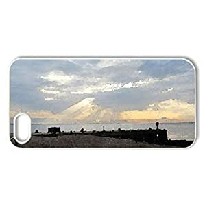 Evening Dusk - Case Cover for iPhone 5 and 5S (Beaches Series, Watercolor style, White)