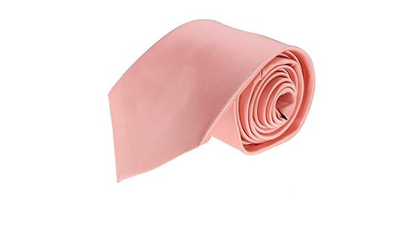 Para hombre cuello sólido Coral rosa corbata de diseño elegante ...