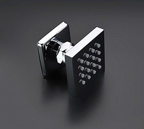 Gowe Multi function Led shower set big size 6080cm remote control led bathroom shower faucet set with message body jets 3