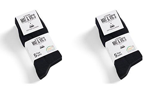 confortable Pour Vic's Standard elle de Taille Pas de confortable tex Classique de Coton paires et Oeko Ceinture chaussettes Mat couture Noir 10 100 elle confortable XqYax