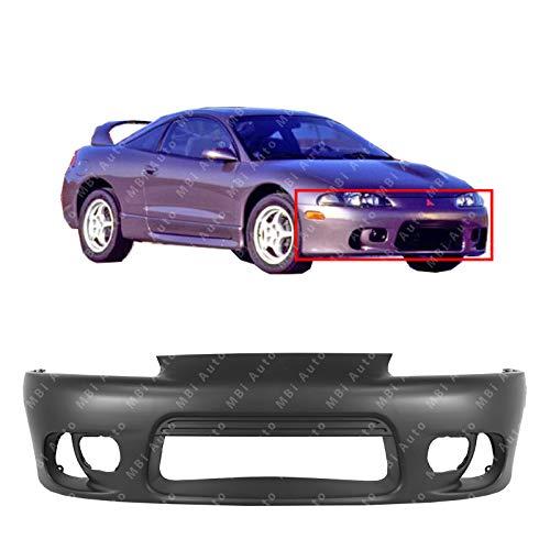 MBI AUTO - Primered, Front Bumper Cover Fascia for 1997-1999 Mitsubishi Eclipse w/Fog 97-99, MI1000260