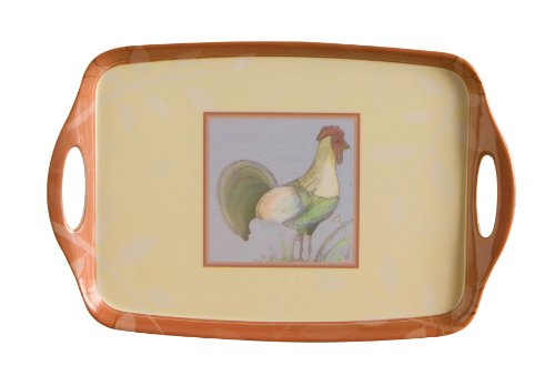 Premier Housewares Melamine Tray with Handles Home to Roost, 40 x 26 cm