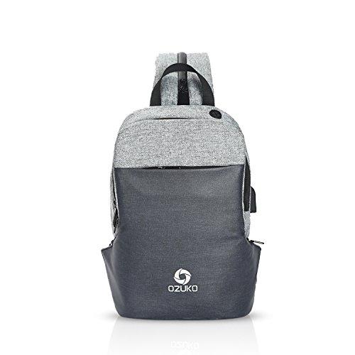 8b00e283220b FANDARE ボディーバッグ 盗難防止 リュックサック 2way メンズ USB充電ポート付き イヤホン穴 バッグ