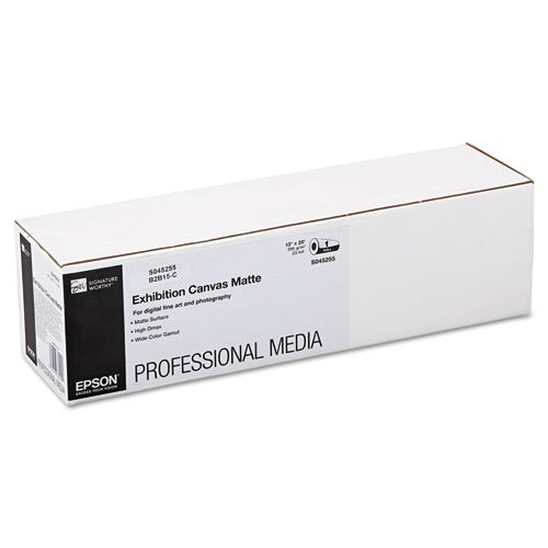 Cotton Canvas Poly Matte - Epsonamp;reg; - Exhibition Canvas Matte, 13amp;quot; x 20 ft. Roll - Sold As 1 Roll - Heavyweight Cotton/Poly Media with an Elegant Canvas Surface.