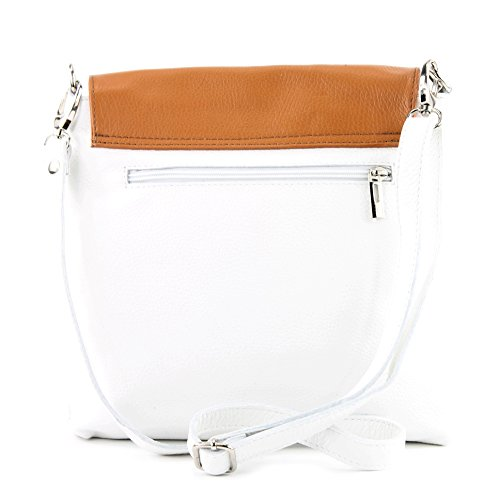 Modamoda Leather Bolsa Leather White Ital Nt07 Nappa Modamoda Blanco De 2in1 Messengerasche Nt07 Cuero Hombro Messengerasche De Shoulder Bag Napa De Damentasche Camel Cuero Damentasche Bag De Camello Bolsa Ital 2en1 De BXEZZqwOx