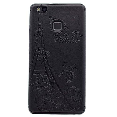 [해외]Huawei P9 Lite, P9 Lite 케이스 휴대 전화 (울트라 슬림 및 경량 TPU 소재, 화웨이 P9 용 편리한 백 케이스 스타일 커버 포함)/inShang Case for Huawei P9 Lite,P9 Lite case mobile phone with Ultra Slim and Light Weight TPU Material,Conveni...