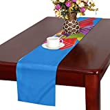 Jnseff Pinwheel Sky Clouds Sun Wind Blue Toys Windmill Table Runner, Kitchen Dining Table Runner 16 X 72 Inch For Dinner Parties, Events, Decor