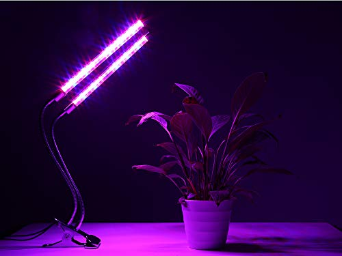 TekHome Plant Grow Light with Timer, 36 LED Grow Light, Indoor Grow Lights for Plants, Grow Lamp for Indoor Plants, Fluorescent Grow Light, Grow Light for Seed Starting, Dimmable Small Grow Light.