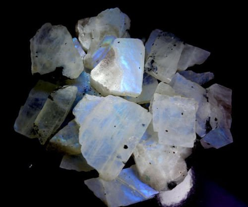 1251CTS WHOLESALE LOT NATURAL RAINBOW MOONSTONE ROUGH SPECIMEN CABOCHON GEMSTONE by Handmade