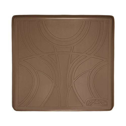(MAX LINER D1153 All Weather Custom Fit Cargo Trunk Liner Floor Mat Behind 2nd Row Tan for 2015-2019 Tahoe/Yukon/Escalade)