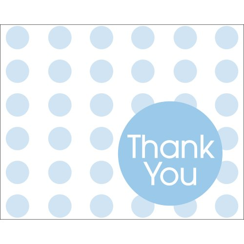 Creative Converting Baby Shower Pastel Blue Dots 8 Count Thank You Cards