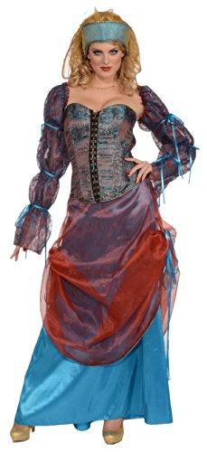 [Forum Novelties Women's Designer Collection Deluxe Courtesan Costume, Multi, Medium] (Renaissance Courtesan Costume)