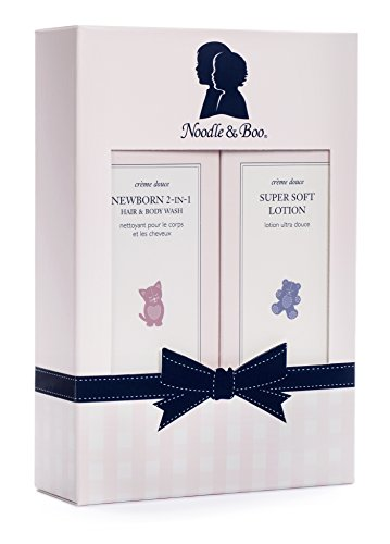 Noodle & Boo Newborn Gift Set for Baby; Newborn 2-in-1 Hair & Body Wash, Super Soft Baby Lotion, 8 Oz of each