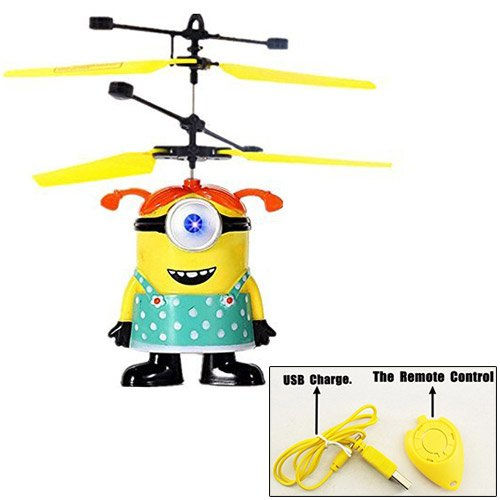 Girl ME Minion Flying Toy Flash Ball Remote Control