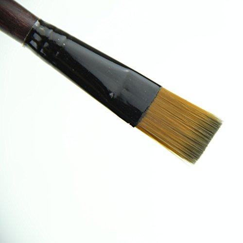 MEXUD 6 Brown Tip Nylon Paint Brushes For Art Artist - Faces Glasses Chubby For Frames
