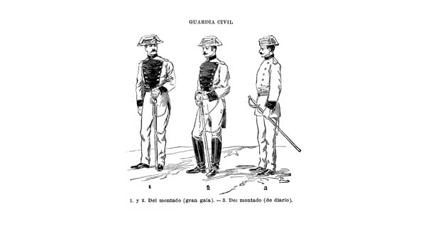 Grabado antiguo (1902) - Fotograbado - Guardia Civil.- Uniformes ...