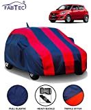 FABTEC Car Body Cover for Maruti Swift (2012-2017) with Mirror Antenna Pocket (Red & Blue)