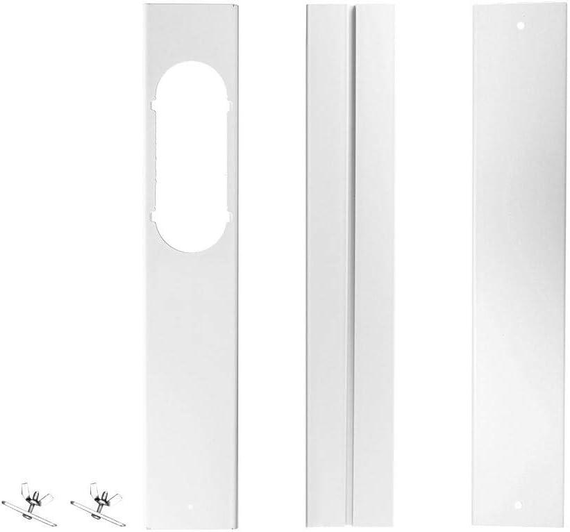 SNIIA 2 Piezas Sello de Ventana Universal para Aire Acondicionado portátil, Kit de Deslizamiento de Ventana Placa Adaptador de ventilación de Ventana Adaptador de Ventana Herramienta de Manos