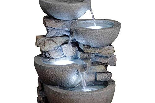 Jeco Inc. Modern Bowls Fountain with Led Lights