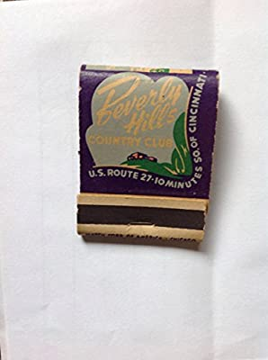 Beverly Hills Country Club unused Matchbook Newport Kentucky