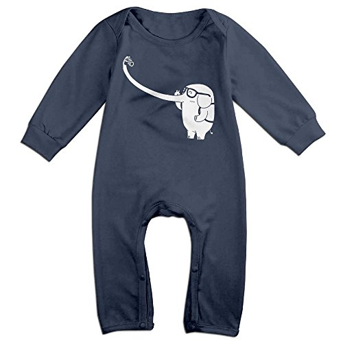 Police Costume Australia (Orz Infants Star Elephant Funniest Long Sleeve Bodysuit Baby Onesie Baby Climbing Clothes Outfits Jumpsuit For 0-24 Months Navy 12 Months)
