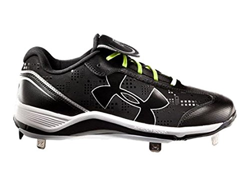 Under Armour Women's Glyde Low Metal Softball Cleats, Black/White, SZ 11