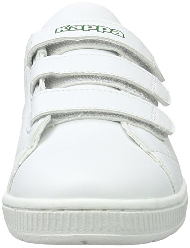 White Mixte Court Sneakers Velcro Blanc Adulte 1030 Green Basses Kappa 8wHpWxqp