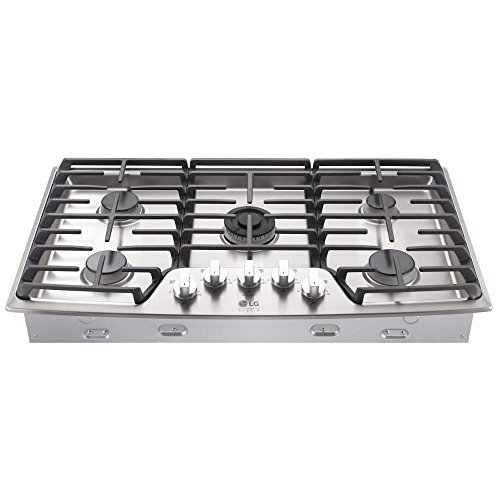 "LG Studio 36"" Built-In Gas Cooktop Stainless Steel LSCG367ST"