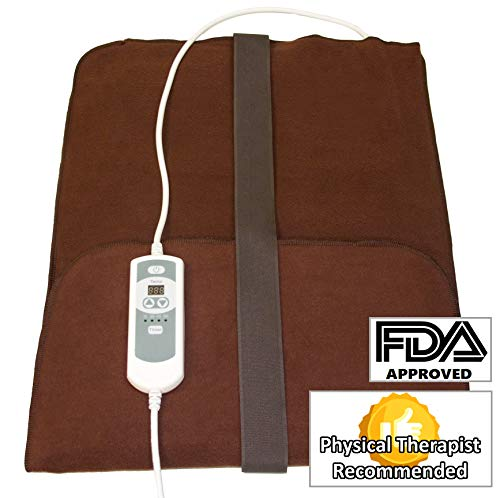 Natural Relief Extra Large Digital Moist Heating Pad with Coral Sand - Auto Shut Off - Strap - Negative Ion (27'x14')