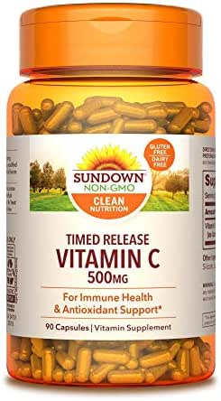 Sundown Vitamin C 500 mg Capsules Time Release 90 Capsules ( Pack of 3)(Packaging May Vary)