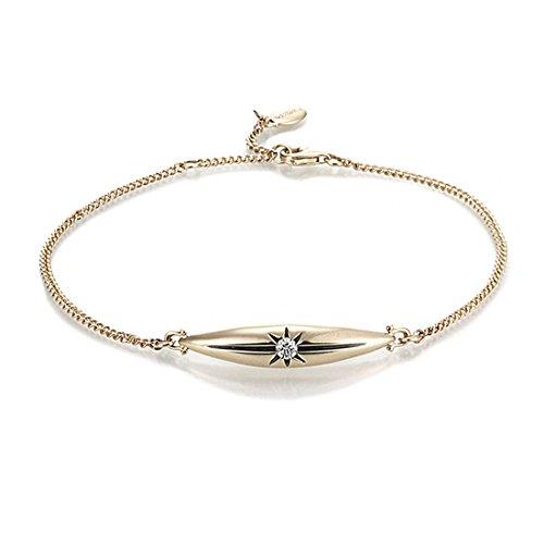 JEWELISTA Diamond Marquise Chain Bracelet in 14K Yellow - 14k Marquise Bracelet