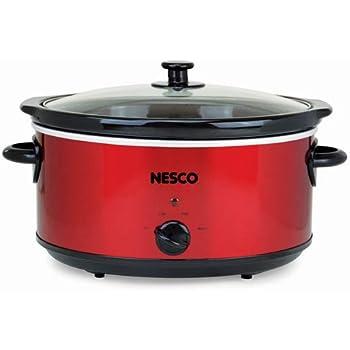 Nesco SC-6-22 Slow Cooker, 6 Qt, Red