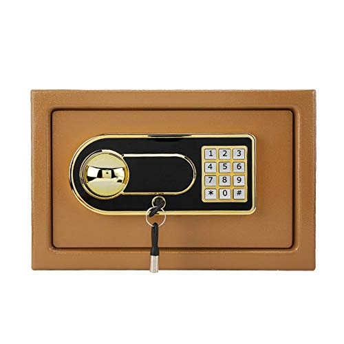 Electronic Digital Security Safe Box, Home Office Cash Deposit Box, Security Cabinet Lock Box for Cash, Jewelry…