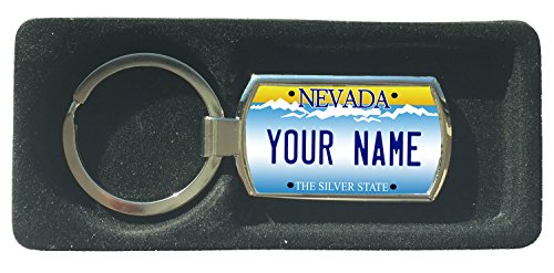 (BleuReign(TM) Personalized Custom Name Nevada State License Plate Metal Keychain)