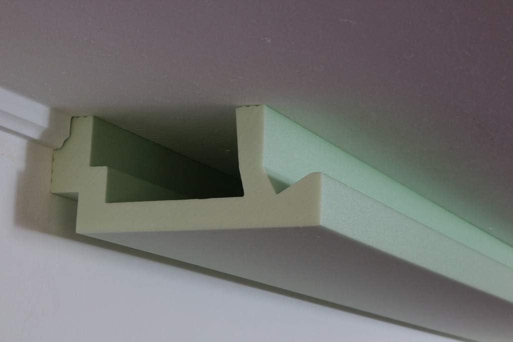 Moderne LED Stuck-Leiste - Licht-Profil für indirekte Beleuchtung von Wand und Decke aus Hartschaum WDML-200A-ST von BENDU: Amazon.de: Baumarkt - Lichtleiste