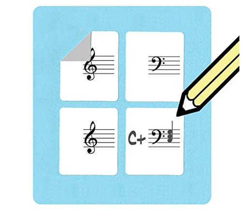 (Treble and Bass Clef Small Staff Stickers (120 Pack) Super handy for music teachers! )