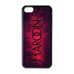J-LV-F Print Maroon 5 Pattern PC Hard Case for iPhone 5C