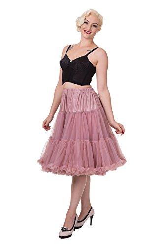 Banned Apparel - Falda - trapecio - para mujer Dusty Pink