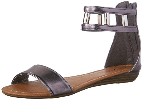 Fashion Low sunville Women's Sandals Pewter Wedge New qPwI7w