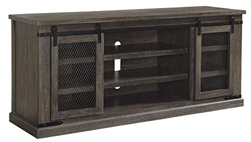 Ashley Furniture Signature Design - Danell Ridge Extra Large TV Stand - Sliding Barn Door - Brown
